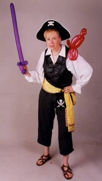 """Pirate Balloon Twister: Twisting and Art in Chicago. Balloonists, Balloon Twisting, we can help you with any creation. For birthdays, celebrations - hire Balloons And More Fun: Several parents said  """"I will be using her for all my Balloon twisting and parties"""" Serving: Cook County, IL. & Du Page County, IL."""