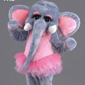 Hire an Elephant Party Character in the style of Disney's The Lion King