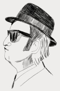 Hire caricature artist drawing the Blues Brothers